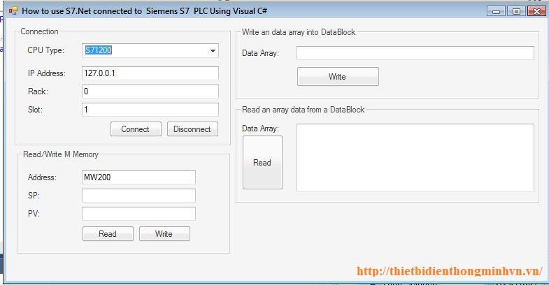Code C# kết nối PLC Siemens S7 200/300/400/1200/1500